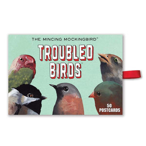 Boxed Cards - Troubled Birds Post Card Set of 50 - The Flying Owl