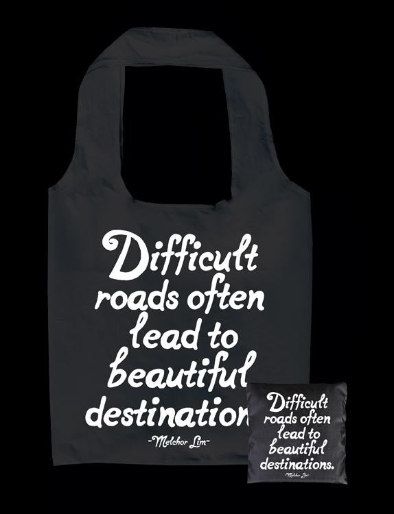 Tote Bag - Difficult Roads Lead - The Flying Owl