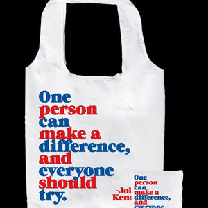 Tote Bag - One Person Can Make A Difference and Everyone Should Try. - The Flying Owl