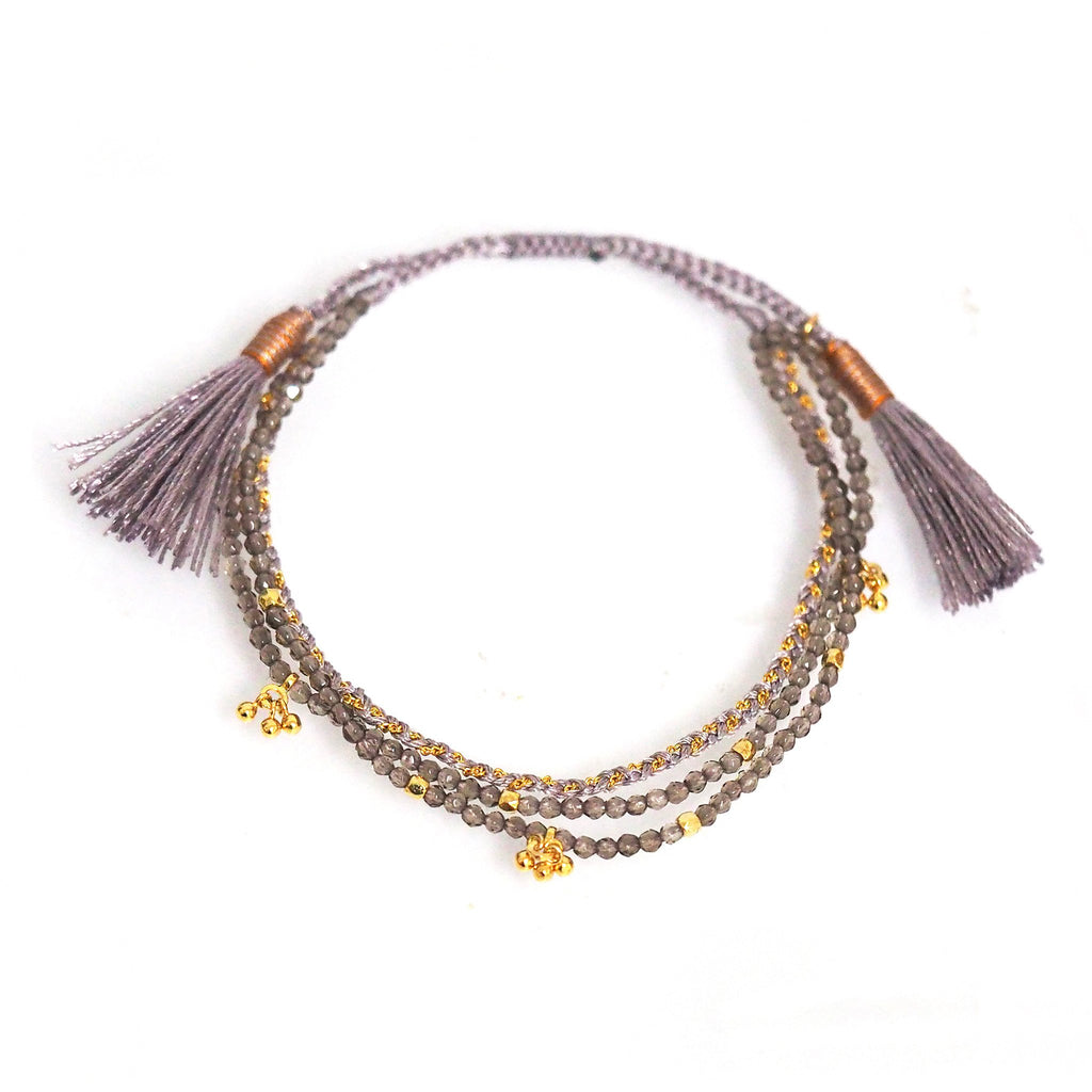 Bracelet - Tai - 3 Strand Tassel - The Flying Owl