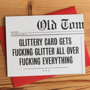 Glittery Card Gets Fucking Glitter - The Flying Owl