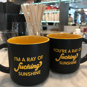 Mug - I'm A Ray Of Fucking Sunshine in Black - The Flying Owl