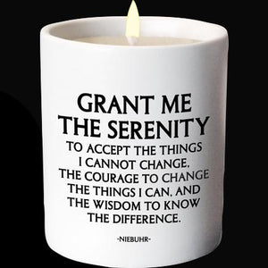 Candle - Serenity Prayer - The Flying Owl