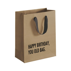 Gift Bag - Happy Birthday You Old Bag - The Flying Owl
