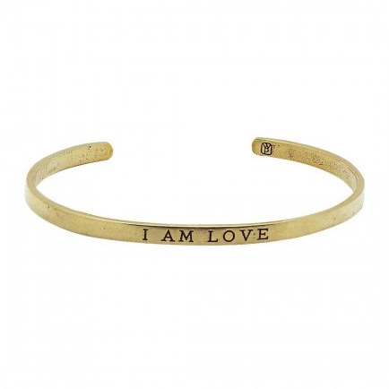 Bracelet - I Am Love cuff - The Flying Owl