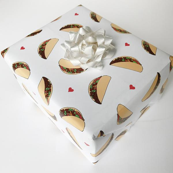 Gift Wrap - Taco - The Flying Owl
