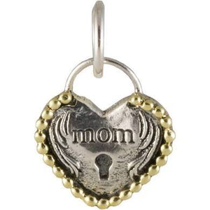 Mom Heart Lock Charm - The Flying Owl