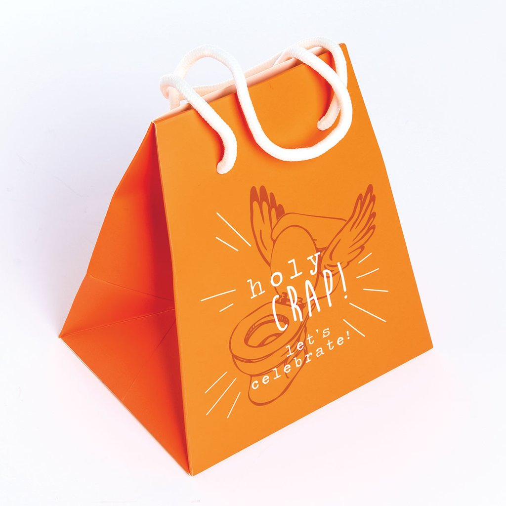 Gift Bag - Holy Crap Let's Celebrate - The Flying Owl