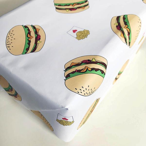 Gift Wrap - Burgers & Fries - The Flying Owl