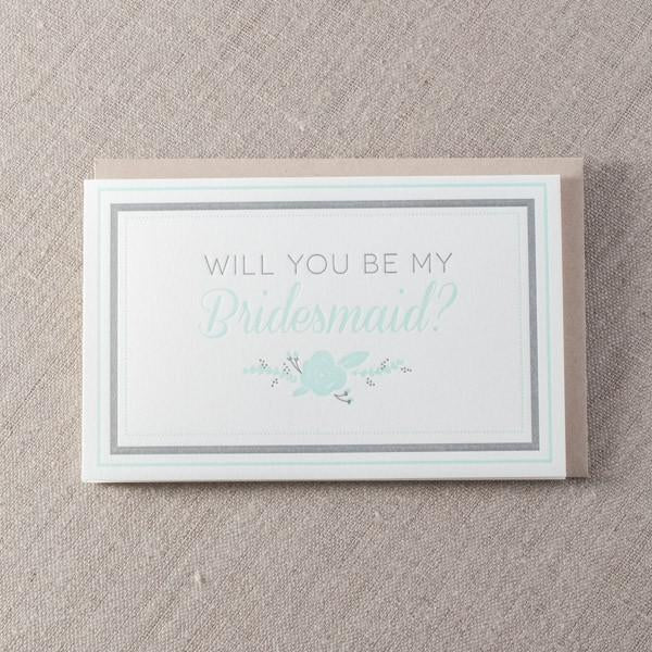 Bridesmaid Greeting Card - The Flying Owl