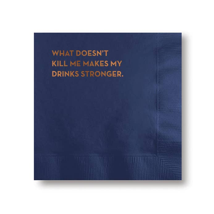 Napkins -  What Doesn't Kill Me Makes My Drink Stronger - The Flying Owl