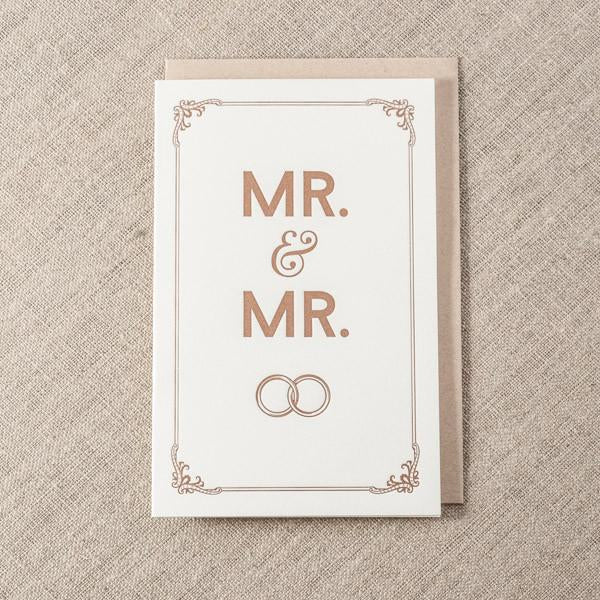 Mr. & Mr. Wedding Card - The Flying Owl