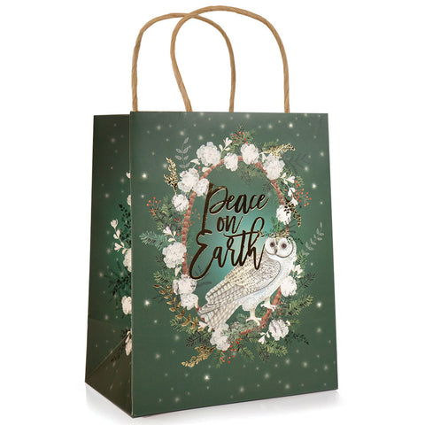 Gift Bag - Peace On Earth Owl