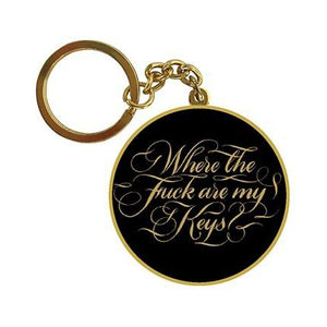 Keychain - Where the Fuck Are My Keys - The Flying Owl