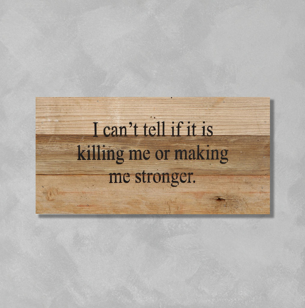 Wall Art - Killing Me Or Making Me Stronger - The Flying Owl