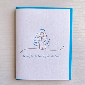 Dog Sympathy Card - The Flying Owl