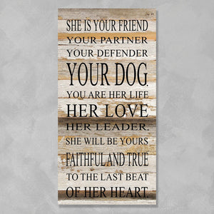 Wall Art - She is your friend...Your Dog - The Flying Owl