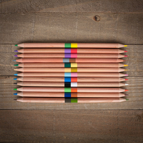 Duet Double-Ended Colored Pencils - The Flying Owl