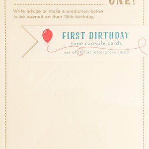 Boxed Cards - First Birthday Time Capsule Cards - The Flying Owl