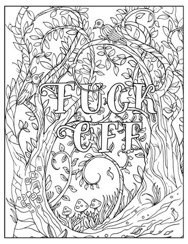 Fuck Off, I'm Coloring - The Flying Owl