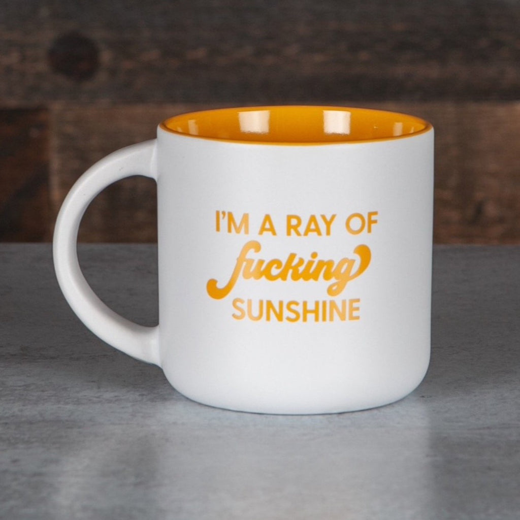 Mug - I'm A Ray Of Fucking Sunshine in White - The Flying Owl
