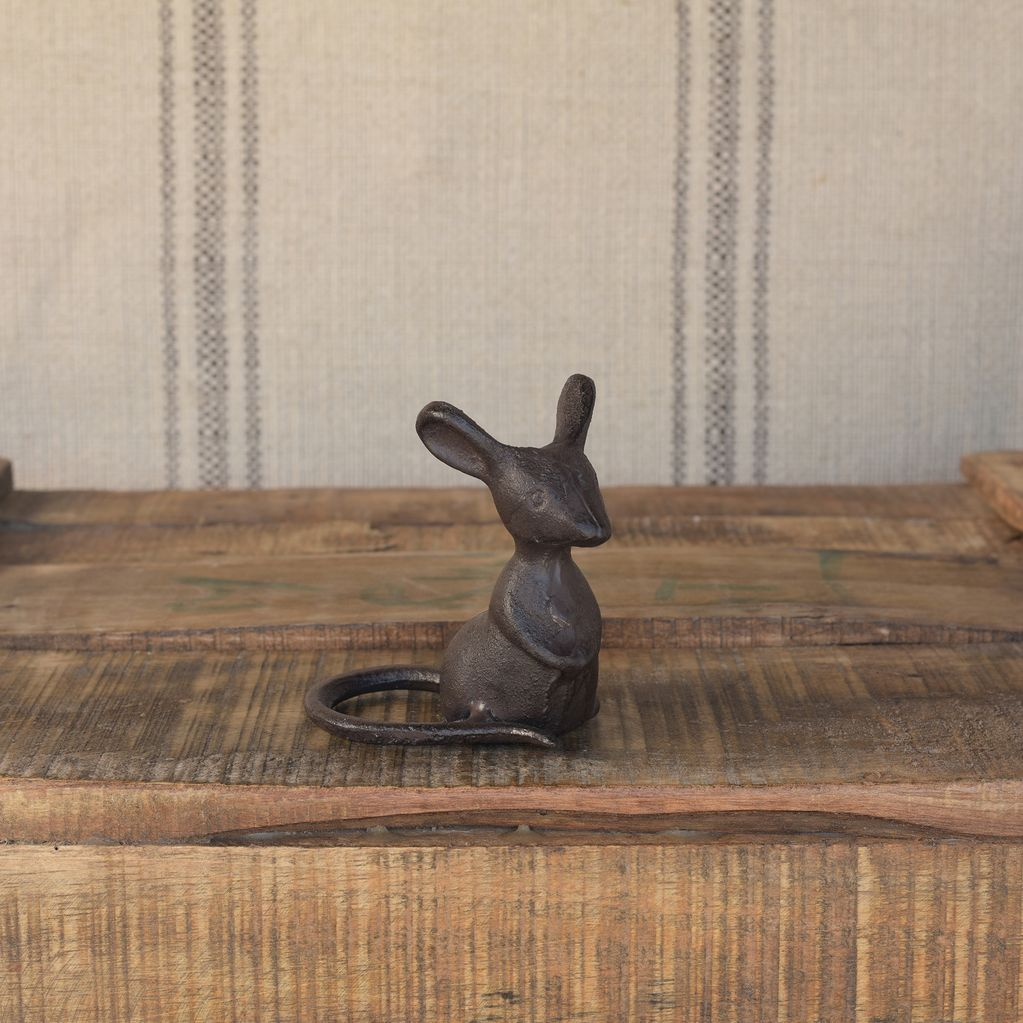 Cast Iron Listening Mouse