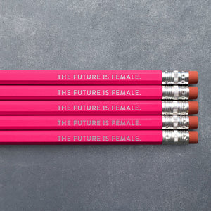 Pencil Set - Future is Female - The Flying Owl