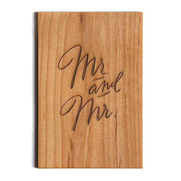 Wooden Card - Mr. and Mr. - The Flying Owl