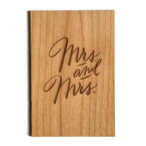 Mrs. & Mrs. Wood Card - The Flying Owl