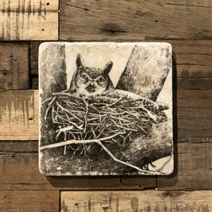 Coaster - Vintage Owl - The Flying Owl