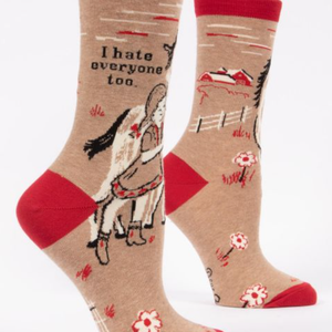 Women's Socks - I Hate Everyone Too - The Flying Owl