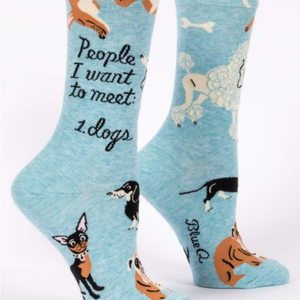 Women's Socks - People I want to Meet: Dogs - The Flying Owl