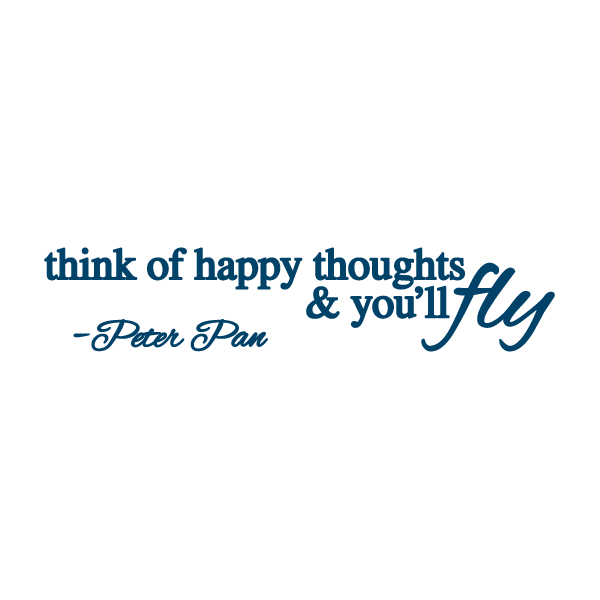 Tattoo - Think Happy Thoughts - The Flying Owl