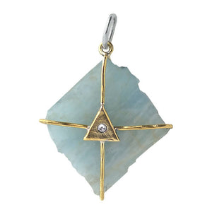 Pendant - Discovery Aquamarine Talisman - The Flying Owl