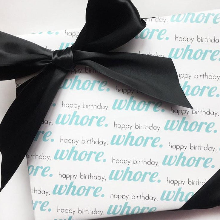 Gift Wrap - Happy Birthday Whore - The Flying Owl