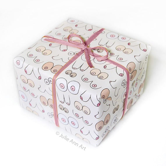Gift Wrap - Lots of Boobs - The Flying Owl