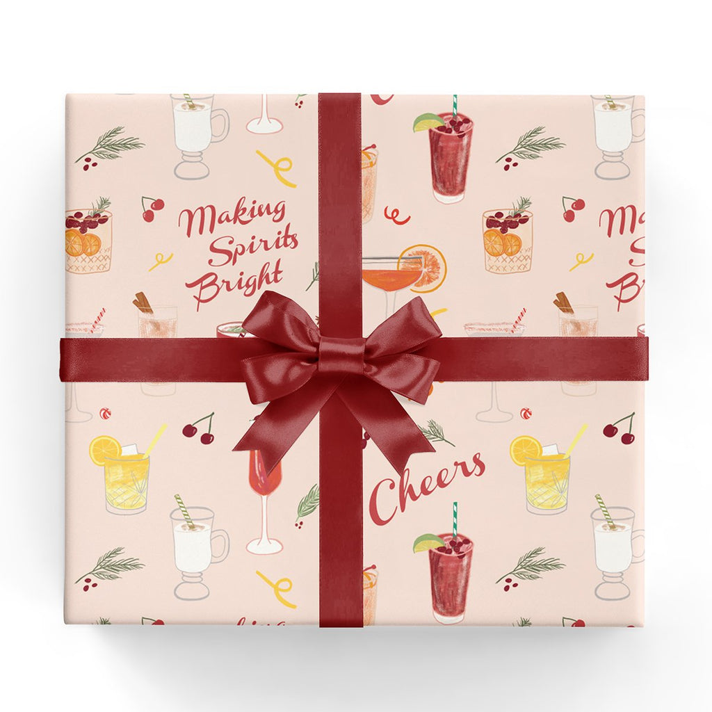 Gift Wrap - Holiday Cocktails - The Flying Owl