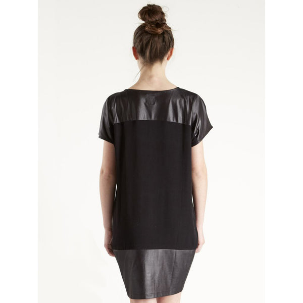 Dual Wear Detailed Neckline Black Dress/Top by NU DENMARK - SWALK Fashion