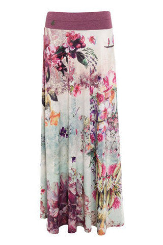 Long Floral Patterned Maxi Skirt by SMASH - SWALK Fashion