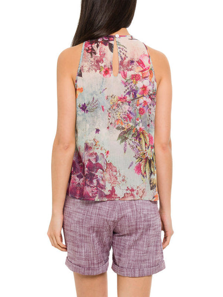 Floral Print Cami Top by SMASH - SWALK Fashion