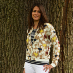 Doreen Flower Detail Bomber Jacket by ANONYME - SWALK Fashion