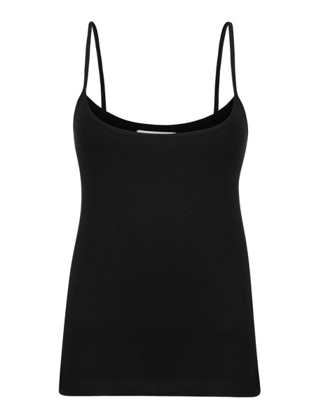 Black Basic Strappy Top by BELLFIELD - SWALK Fashion