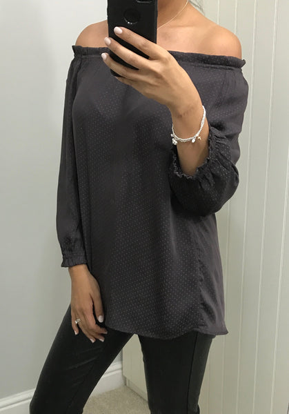 Plum Square Detail Top by SOYACONCEPT - SWALK Fashion