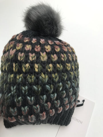 Wampee Multi-Coloured Pom Hat by NUMPH - SWALK Fashion