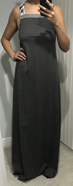 Long Maxi Dress With Strap Detail by MOUTAKI - SWALK Fashion