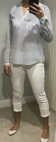 White Capri Jeans by ICHI