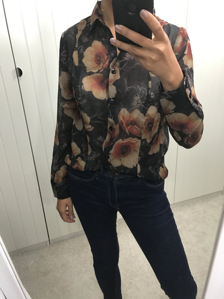 Veronica Brown Floral Shirt by ANONYME