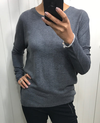 Super Soft Dark Grey Top by SOYACONCEPT - SWALK Fashion