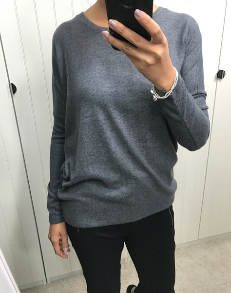 Super Soft Dark Grey Top by SOYACONCEPT