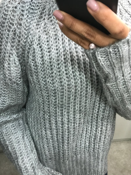 Oversized Grey Piata Jumper by SILVIAN HEACH - SWALK Fashion